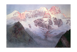 Monte Rosa at Sunrise from Above Alagna Giclee Print by Alfred Gibson William