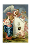 Allegorical Study for a Memorial Print of Handel Giclee Print by Giovanni Battista Cipriani