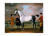 The Duke of Bolton's 'starling' with a Jockey and Groom at Newmarket, 1734 Giclee Print by Thomas Spencer