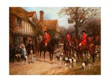 The Meet, Ye Olde Wayside Inn Giclee Print by Heywood Hardy