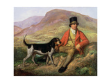 Portrait of John Peel (1776-1854) with One of His Hounds Giclee Print by Ramsay Richard Reinagle