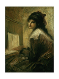 Girl at the Piano Giclee Print by Luigi Conconi