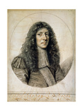 Portrait of John Aubrey, 1666 Giclee Print by William Faithorne