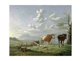Pastoral Landscape, C.1650's Giclee Print by Karel Dujardin