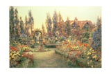 View of a Country House and Garden Giclee Print by Ernest Arthur Rowe