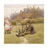 Chairmender Giclee Print by Helen Allingham