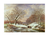 Winter Landscape, 19th Century Giclee Print by Louis Verboeckhoven