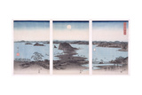 Panorama of Views of Kanazawa under Full Moon, from the Series 'snow, Moon and Flowers', 1857 Giclée-trykk av Ando Hiroshige