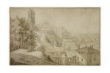Pd.516-1963 View of Trinita Dei Monti, Rome, 1603 Giclee Print by Willem van Nieulandt