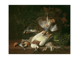 Still of Game and Vegetables Giclee Print by Hieronymus the Elder Galle