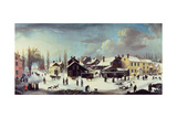 Winter Scene in Brooklyn, C.1817 Lámina giclée por Louisa Ann Coleman