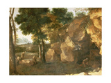 St. Jerome Giclee Print by Gaspard Dughet Poussin