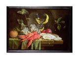 Still Life with Lobster, Oysters and Fruit Giclee Print by Alexander Coosemans