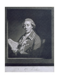 Portrait of Giusto Ferdinando Tenducci (C.1735-90), Italian Castrato, Engraved by William… Giclee Print by Thomas Beach