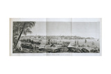View of Sydney, Capital of the English Territory in New Holland, in 1803, Plate 37 from 'Voyage… Giclee Print by Charles Alexandre Lesueur
