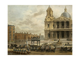 Funeral Procession of the Late Viscount Nelson, from the Admiralty to St.Pauls, 9th January 1806,… Giclee Print by Augustus Charles Pugin