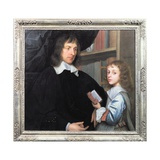 Portrait of Lady Mary Fairfax (1638-1704), Aged Nine, with Her Tutor, C.1647 Giclee Print by Robert Walker