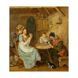 The Card Players Giclee Print by John Burnet