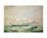H.M.S. Hornet, 1861 Giclee Print by Oswald Walter Brierly