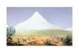 T.1607 Chimborazo, from 'Views of Nature', Pub. C.1850 Giclée-tryk af Friedrich Alexander, Baron Von Humboldt