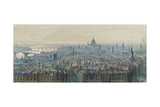Panorama of London from the Top of the Monument, Looking West, 1848 Giclee Print by Carl Haag
