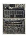 The Tombs of Queen Philippa and Queen Eleanor, Plate 51 from 'Westminster Abbey', Engraved by J.… Giclee Print by Frederick Mackenzie