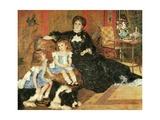 Madame Georges Charpentier and Her Children, 1878 Giclee Print by Pierre-Auguste Renoir