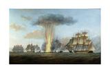 H.M.S. 'Lively' Capturing the Spanish Frigate 'Clara' Off Cape St. Mary, C.1806 Giclée-tryk af Nicholas Pocock