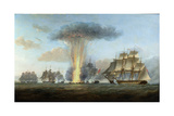 H.M.S. 'Lively' Capturing the Spanish Frigate 'Clara' Off Cape St. Mary, C.1806 Giclee Print by Nicholas Pocock