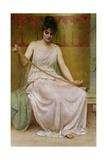 Neaera Reading a Letter from Catullus, C.1894 Gicléetryck av Henry John Hudson