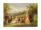 Une Scene Galante Giclee Print by Henry Andrews