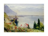 The Castle at Chillon Giclee Print by John William Inchbold