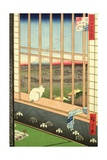 Asakusa Rice Fields During the Festival of the Cock from the Series '100 Views of Edo', Pub. 1857 Giclee Print by Ando Hiroshige