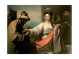 Isaac's Servant Trying the Bracelet on Rebecca's Arm Giclee Print by Benjamin West