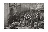 The Taking of the Bastille, 14th July 1789, Engraved by Pannemaker-Ligny from 'Histoire De La… Giclee Print by H. de la Charlerie