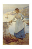 Girl in Blue Giclee Print by Henry Meynell Rheam