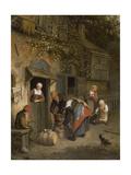 The Milk Seller, 1679 Giclee Print by Cornelis Dusart