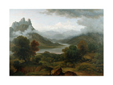 Looking Towards the Val D'Aosta, Bernese Oberland Giclee Print by John Glover