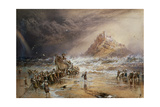 The Return of the Life Boat with St. Michael's Mount in the Distance, C.1874 Giclee Print by Myles Birket Foster