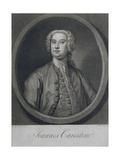 Portrait of Joannes Carestini (C.1705-60), Italian Castrato, Engraved by John Faber (1684-1756),… Giclee Print by George Knapton