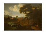 Classical Landscape with Figures Giclee Print by Jan Frans van Bloemen
