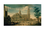 The North Front of Westminster Abbey Giclee Print by William James
