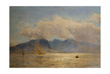Goat Fell, Arran, with Sailing Boats Giclee Print by William Lionel Wyllie
