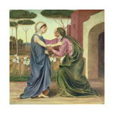 Salutation or the Visitation, 1883 Giclee Print by Evelyn De Morgan