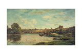On the Loire Giclee Print by Charles Francois Daubigny