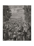 The Women March on Versailles, 5th-6th October 1789, Engraved by Pannemaker-Ligny, from 'Histoire… Giclee Print by H. de la Charlerie