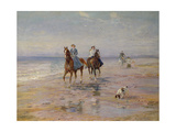 A Ride on the Beach, Dublin Giclee Print by Heywood Hardy