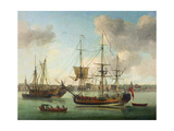 The Naval Dockyard at Deptford Giclee Print by Samuel Scott