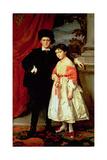 The Children of Freiherr Von Seidler Giclee Print by Heinrich von Angeli