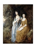 The Linley Sisters (Mrs. Sheridan and Mrs. Tickell) 1771/72 Reproduction procédé giclée par Thomas Gainsborough